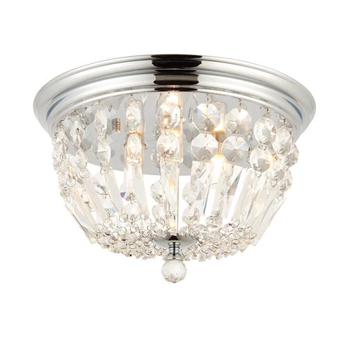 Thorpe Clear Crystal Glass Bathroom Light 68814