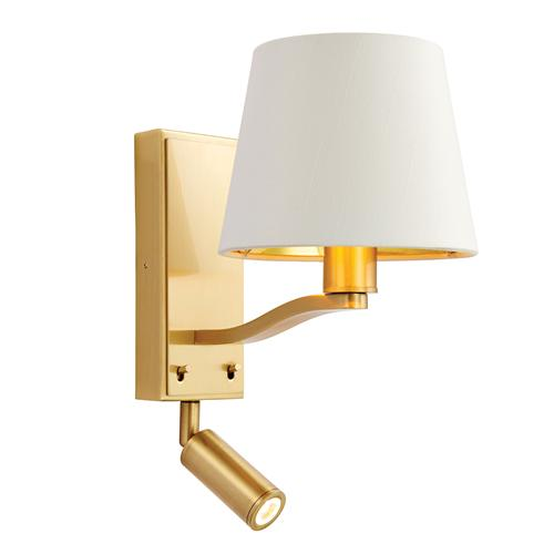 69092 Harvey Brushed Gold Double Wall Light