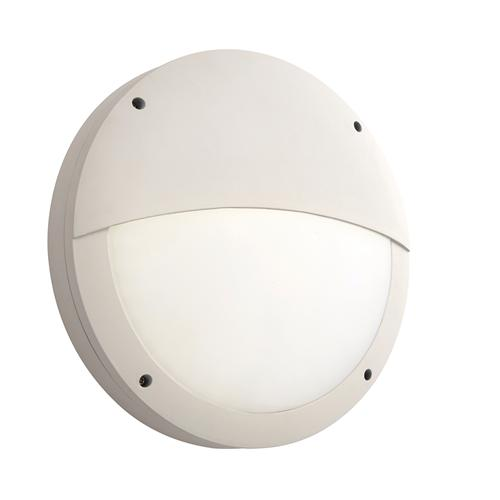 69235 Luik Outdoor LED Eyelid Wall Light In White