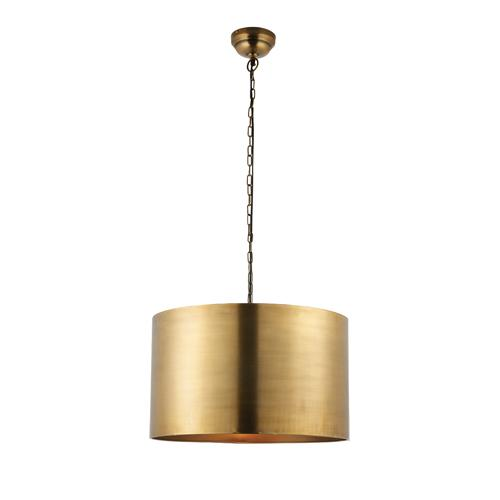 Morad Large Aged Brass Pendant Light 69782