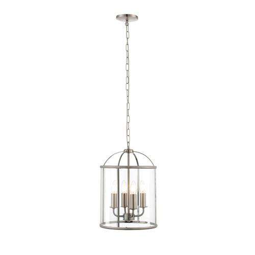 Lambeth 4 Light Satin Nickel Pendant 70324