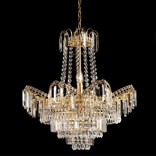 96819-GO Adagio Crystal Ceiling Light