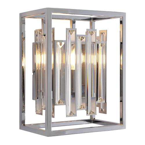 Acadia Chrome Effect Crystal Detail Wall Light 81932