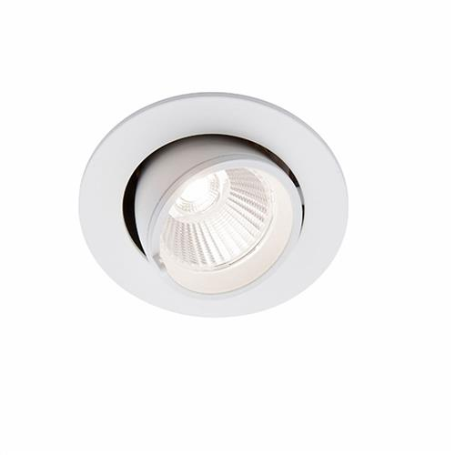 Beitris LED Matt White Tilting Recessed DownLight 80541