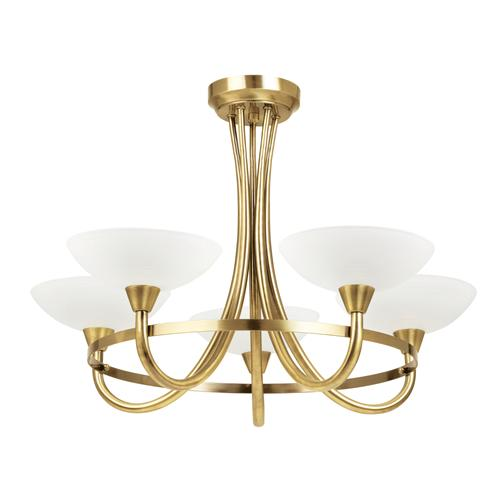 Antique Brass 5 Arm Ceiling Light Cagney-5AB