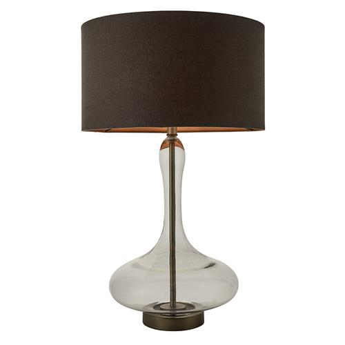 Caia Grey Tinted Glass Table Lamp 79835