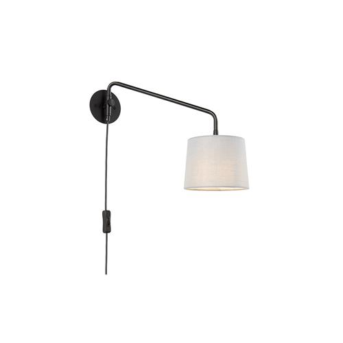 Carlson Black Plug-In Wall Light 79500