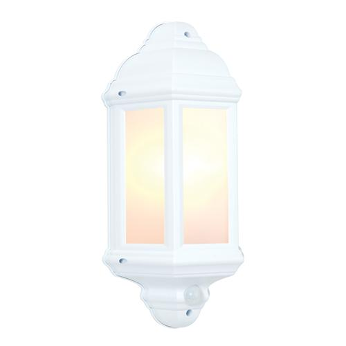 Halbury White PIR Exterior Wall Light 64665