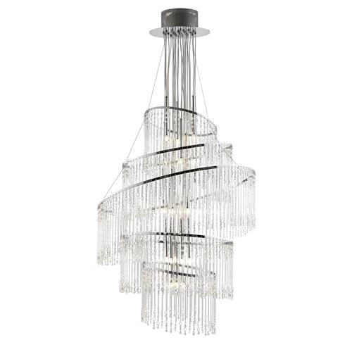 Chrome Crystal Chandelier CAMILLE-24CH