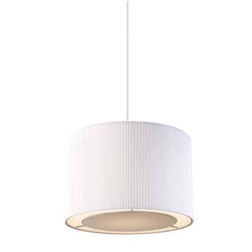 Pleated Pendant Shade Colette-S-Wh