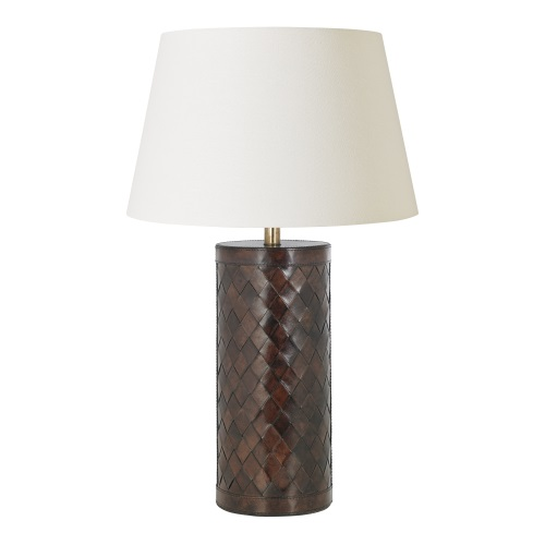 EH-EMERSON-TL+CICI-18IV Leather Lamp Set