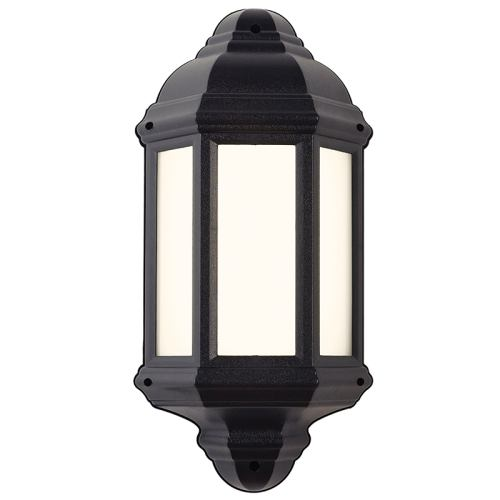 EL-40114 Halbury Outdoor Wall Light Black