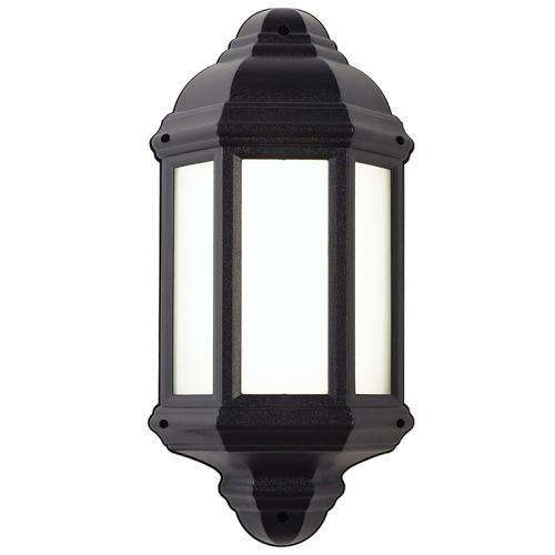 Halbury led outdoor half lantern el 40116 the lighting superstore halbury outdoor led wall light el 40116 mozeypictures Gallery