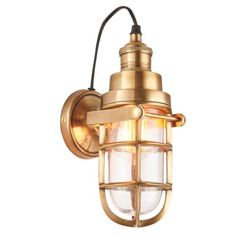 Elcot Solid Brass Wall Light 72988
