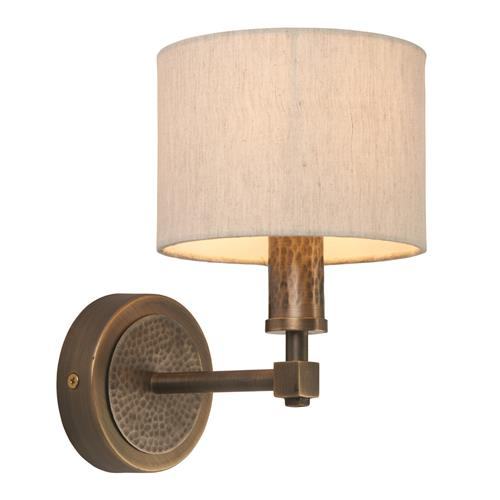 Indara Aged Bronze Single Wall Light 71346