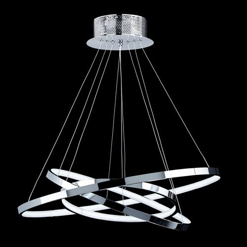 Led Chrome Ceiling Pendant Kline-3Ch