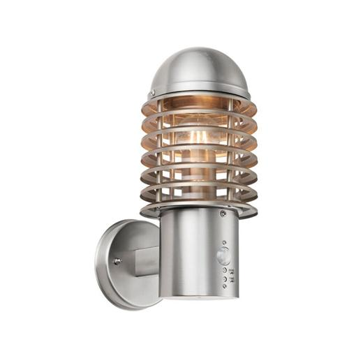 Louvre Outdoor Brushed Steel Sensor Light 72381
