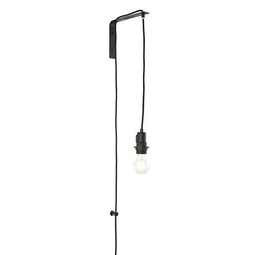 Mono Matt Black Plug-In Wall Light 80648