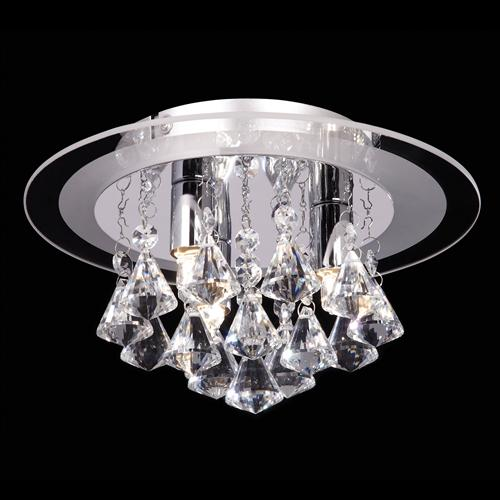 Renner-3CH Crystal Ceiling Light