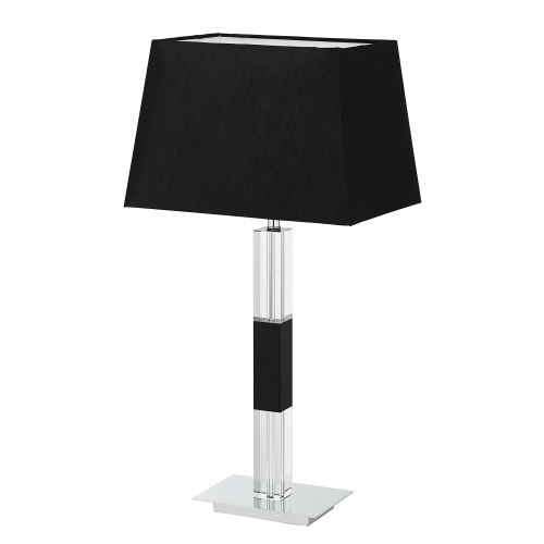 Clear And Black Crystal Table Lamp Rossese