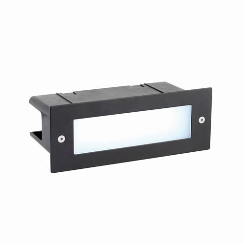 Seina RGB LED IP44 Black Outdoor Brick Light 67603