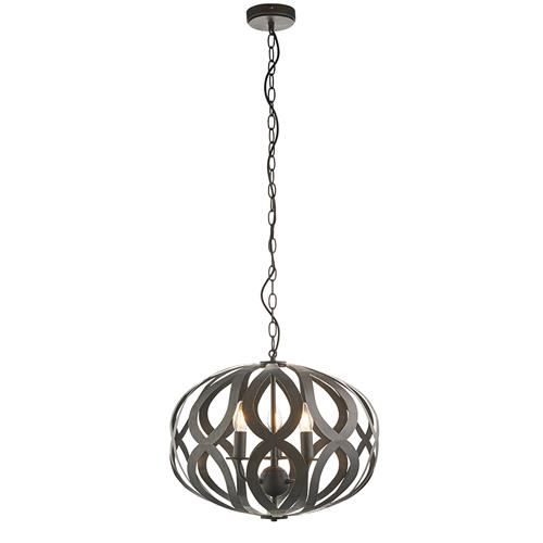 Sirolo Brushed Bronze Three Light Ceiling Pendant 81750