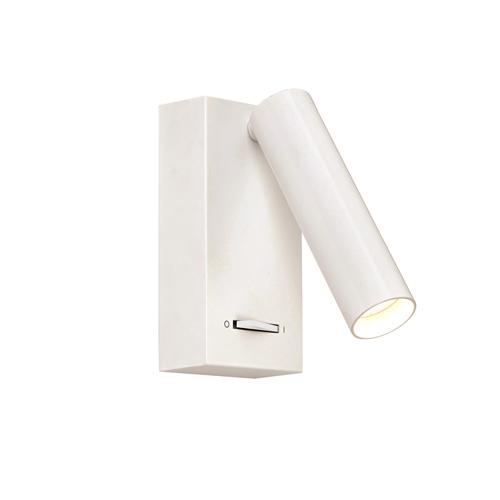 Staten Switched LED Matt White Wall Light 73958