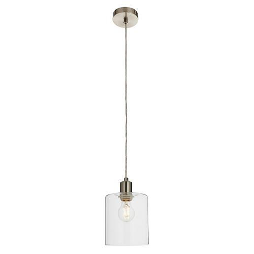 Toledo Brushed Nickel Clear Glass Pendant 90563
