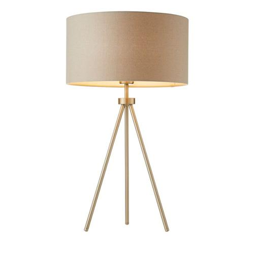 Tri Matt Nickel Table Lamp 66986