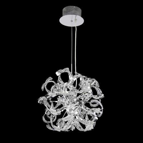 Chrome Pendant Light Twist 9Ch