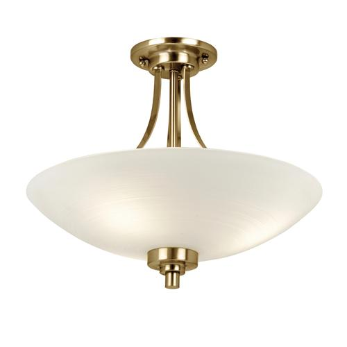 Welles Antique Brass Semi Flush Ceiling Light WELLES-3AB