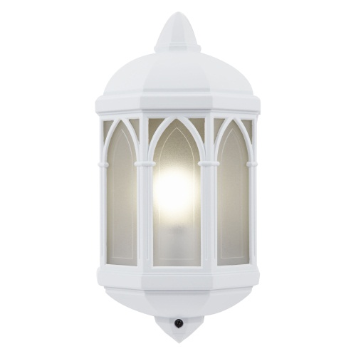 External Wall Light White : Brighton White Outdoor Wall Light Yg-065-Wh Lighting Superstore