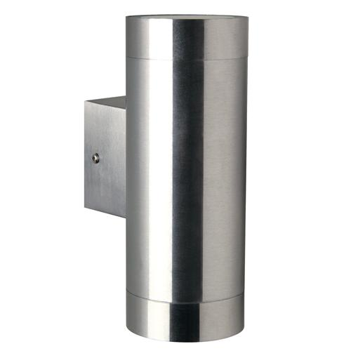 21519934 Tin Maxi Outdoor Double Stainless Steel Wall Light