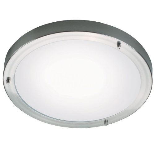 2523 61 32 Ancona Maxi Brushed Chrome Bathroom Flush Light