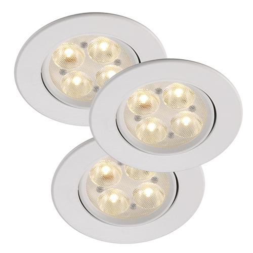 gefion dimmable led 3 light spot kit 54230101 the lighting superstore. Black Bedroom Furniture Sets. Home Design Ideas