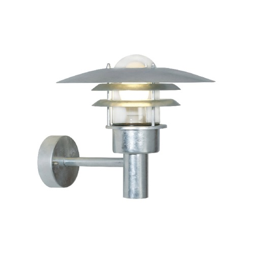 Lonstrup 32 Galvanised Outdoor Wall Light 71411031