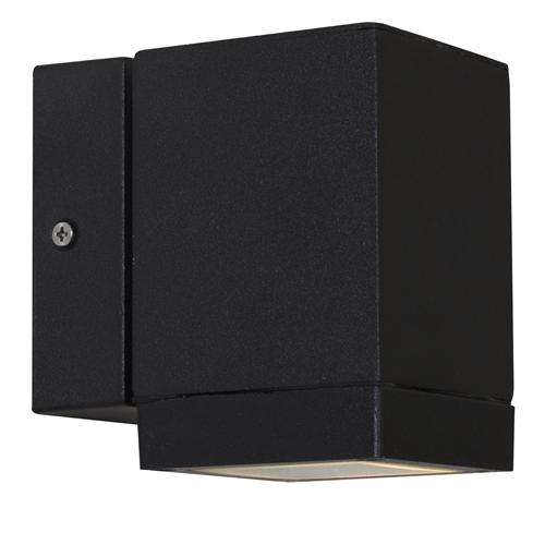 Qubo Black Outdoor Single Wall Light  75659903