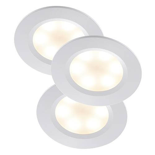 84630001 Rogue Pack of 3 Built in Recessed LED