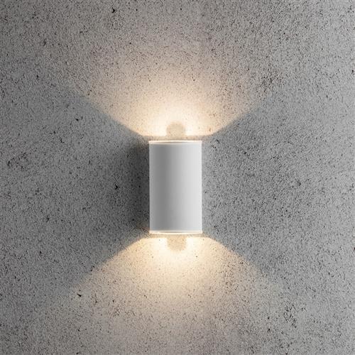 Allegro Led White Curved Wall Light 236331 The Lighting