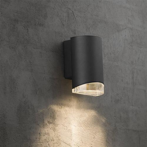 Arn Black Single Down Light Outdoor Wall Washer 45471003 The Lighting Superstore