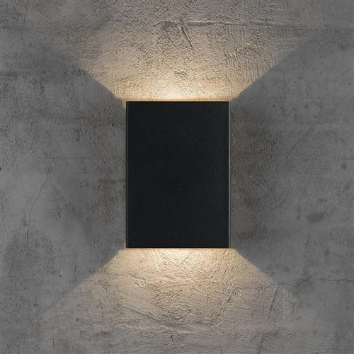 Fold Design For The People Led Black Outdoor Wall Washer 45401003 The Lighting Superstore