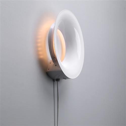 Format LED White Round Wall Light 236131