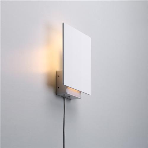 Plano LED Dimmable White Wall Light 236231