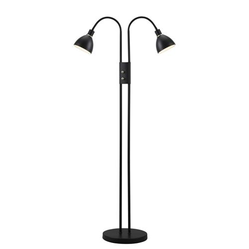 72224003 Ray Dimmable Twin Light Floor Lamp