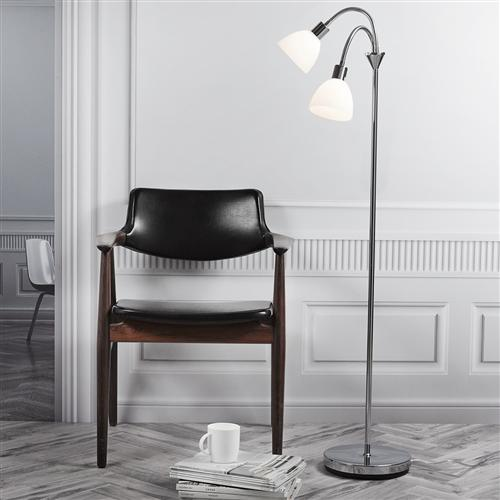 Ray double flexi neck floor lamp the lighting superstore ray flexi neck reading floor lamp 63224033 mozeypictures Gallery