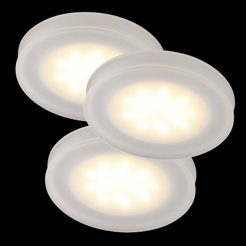 8356 00 01 Thetis LED 3 Light Recessed Spotlights