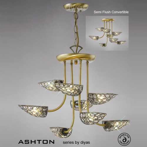 IL20702 Ashton 8 Light Multi Arm