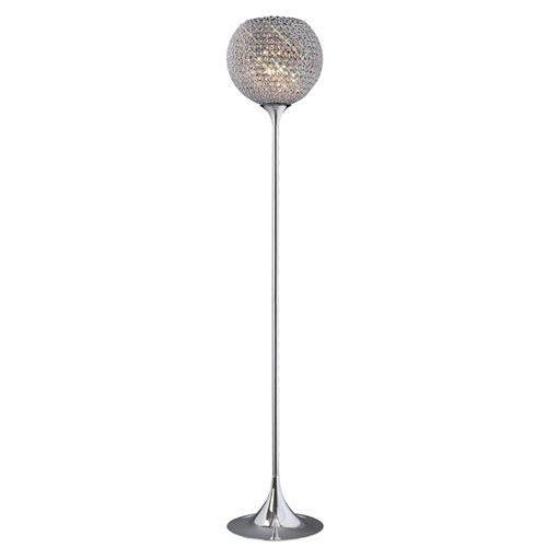 Ava Chrome Crystal 5 Light Floor Lamp IL30197