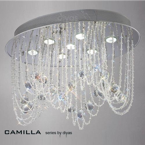 IL31391 Camilla Crystal Ceiling light