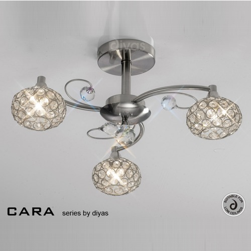 IL30933 Cara Crystal Ceiling Light